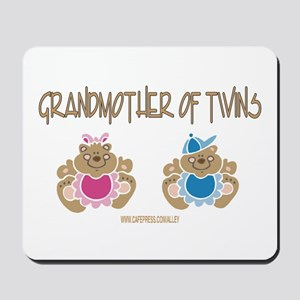 Grandma Of Twins- Boy/Girl Mousepad